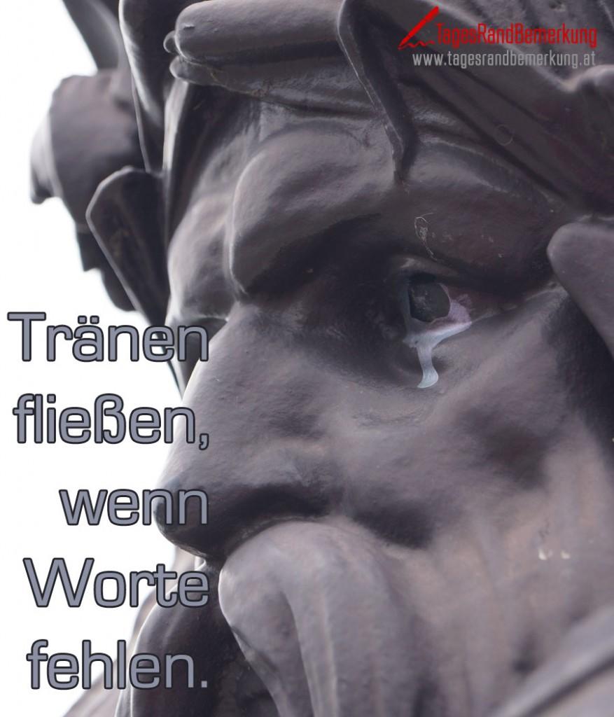 Tränen fließen, wenn Worte fehlen.