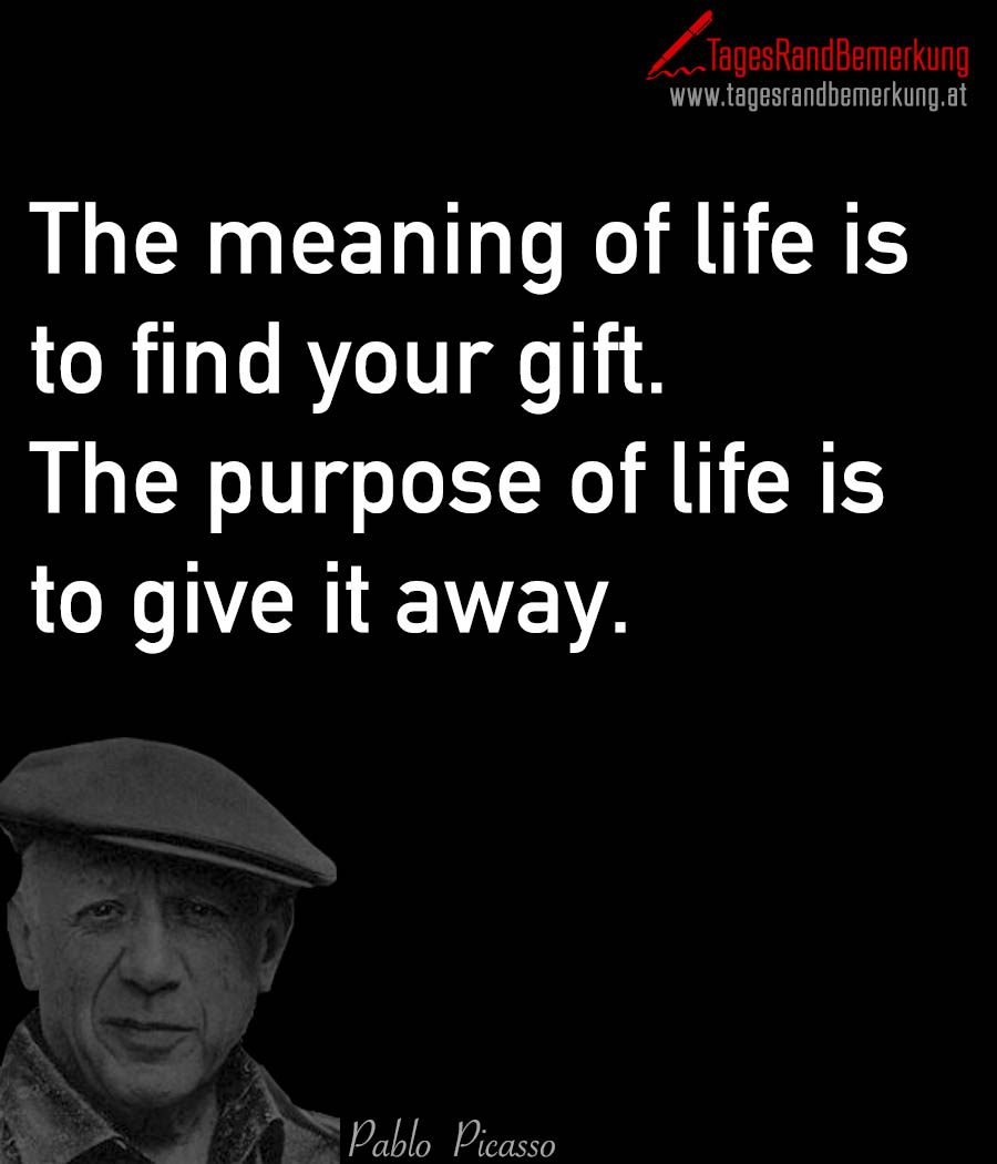 To Be Your Life And Gifts: The Meaning Of Life Is To Find Your Gift. The Purpose Of