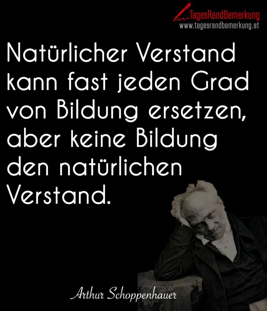 Natürlicher Verstand kann fast jeden Grad von Bildung ersetzen, aber keine Bildung den natürlichen Verstand.