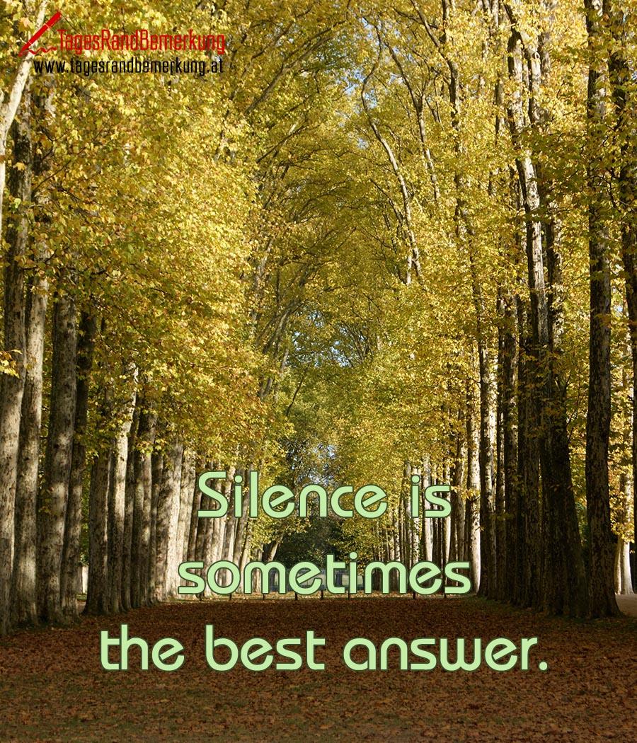 Wer anfängt zu schweigen spruch Wer anfängt