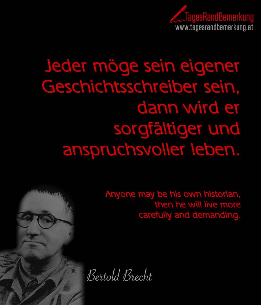 Zitate Mit Dem Schlagwort Bertolt Brecht Der Die TagesRandBemerkung